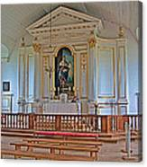 Chapel In King's Bastion In Louisbourg Living History Museum-174 Canvas Print