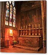 Chapel In St Severin Church Paris Canvas Print