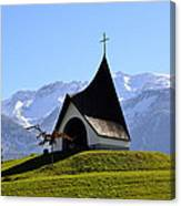 Chapel In The Alps Canvas Print