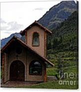 Chapel In The Cajas Canvas Print