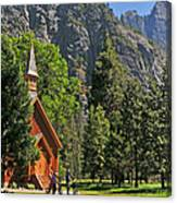 Chapel In The Valley Canvas Print