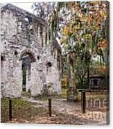 Chapel Of Ease Ruins And Mausoleum St. Helena Island South Car Canvas Print