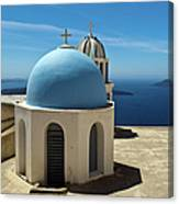 Chapel On Santorini Canvas Print