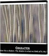 Character Canvas Print