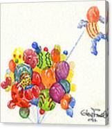 Characters In Balloon Canvas Print
