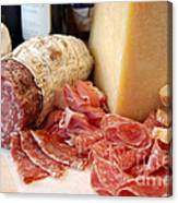 Salami And Cheese Canvas Print