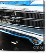 Charger 500 Front Grill And Emblem Canvas Print