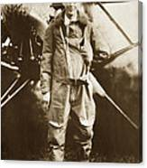 Charles A. Lindbergh And Spirit Of St. Louis May 12 1927 Canvas Print