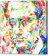 Charles Baudelaire Watercolor Portrait.1 Canvas Print