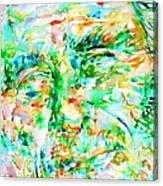 Charles Bukowski Portrait.3 Canvas Print
