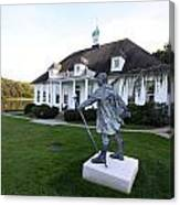 Charles Darwin Statue Cold Spring Harbor New York Canvas Print