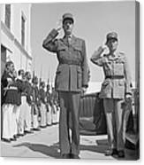 Charles De Gaulle In Carthage Tunisia 1943 Canvas Print