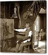 Charles Dickman Artist Monterey California Circa 1907 Canvas Print