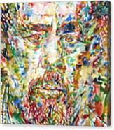 Charles Mingus Watercolor Portrait Canvas Print