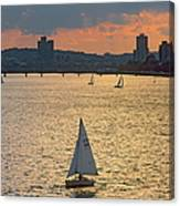Charles River, Boston Canvas Print