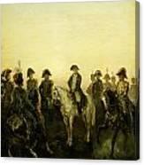 Charles Rochussen Napoleon Met Zijn Staf Canvas Print