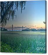 Charleston Bridge View Canvas Print