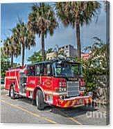 Charleston Fire Dept  Canvas Print
