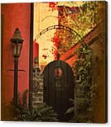 Charleston Garden Entrance Canvas Print