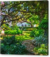 Charleston Sc Gardens Canvas Print
