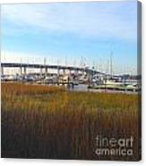 Charleston Harbor And Marsh Canvas Print