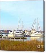 Charleston Harbor Boats Canvas Print