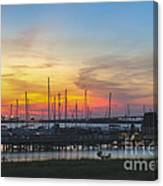 Charleston Harbor Sunset Canvas Print