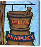 Charleston Pharmacy Canvas Print