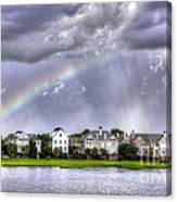Charleston Rainbow Homes Canvas Print