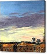Charleston Rooftop Sunset Canvas Print