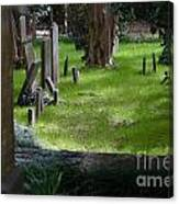 Charleston Sc Graveyard Canvas Print