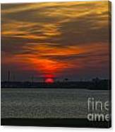 Charleston Sc Sunset Canvas Print