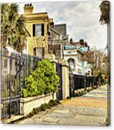 Charleston Sidewalk Canvas Print