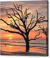Charleston South Carolina Edisto Island Beach Sunrise Canvas Print