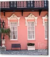 Charleston South Carolina - The Mills House - Art Deco Architecture Canvas Print