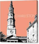 Charleston St. Phillips Church - Salmon        Canvas Print