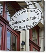 Charleston Tobacco And Wine Sign Canvas Print