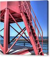 Charlevoix Lighthouse Steps Canvas Print