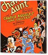 Charleys Aunt, Charles Ruggles Canvas Print