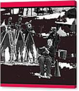 Charlie Chaplin On Location With His Camera Crew Shooting The Gold Rush 1925-2009  Canvas Print
