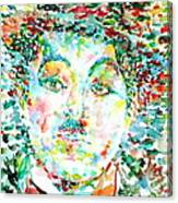 Charlie Chaplin - Watercolor Portrait Canvas Print