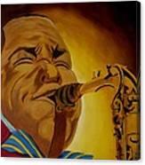 Charlie Parker-legends Of Jazz Canvas Print