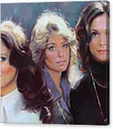 Charli's Angels Kate Jackson Farrah Fawcett Jaclyn Smith Canvas Print