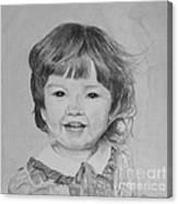 Charlotte B/w Canvas Print