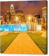 Charlotte City Skyline At Night Canvas Print