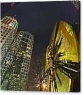 Charlotte Downtown At Night Canvas Print