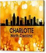 Charlotte Nc 3 Squared Canvas Print