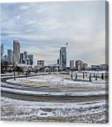 Charlotte North Carolina Skyline In Winter Canvas Print