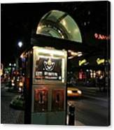 Charlotte Payphone Canvas Print