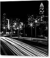 Charlotte Flow B/w Canvas Print